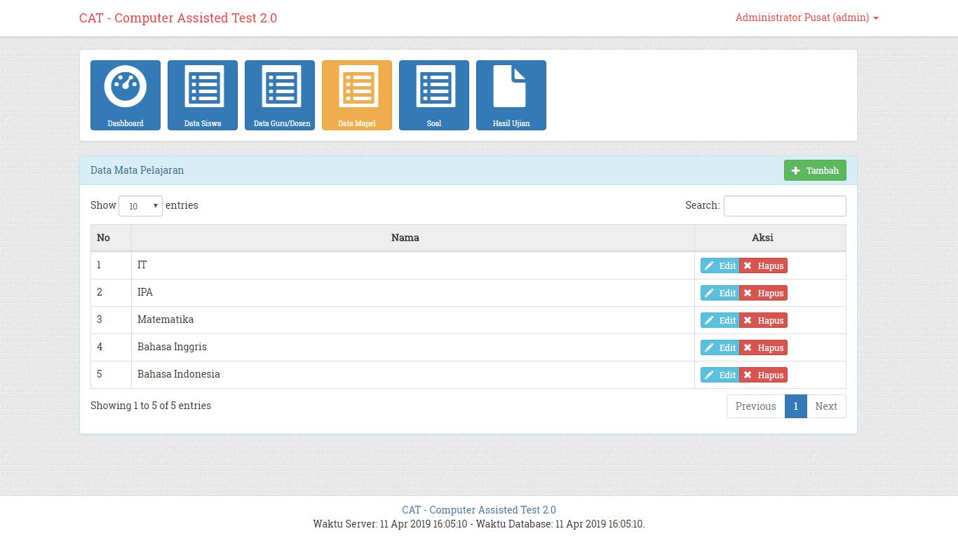 Download Source Code Aplikasi Ujian Online Atau UNBK Berbasis Web