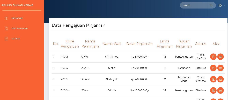 Download Source Code Aplikasi Simpan Pinjam Berbasis Web