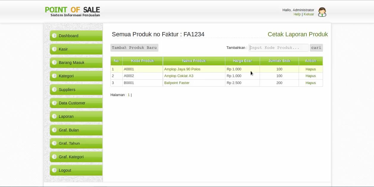 Download Source Code Aplikasi Penjualan Sederhana Berbasis Web