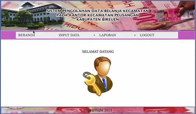 Download Source Code Aplikasi Pendataan Belanja Kecamatan Berbasis Web