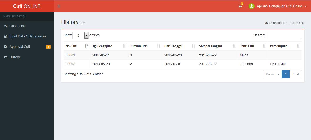 Download Source Code Program Aplikasi Cuti Online