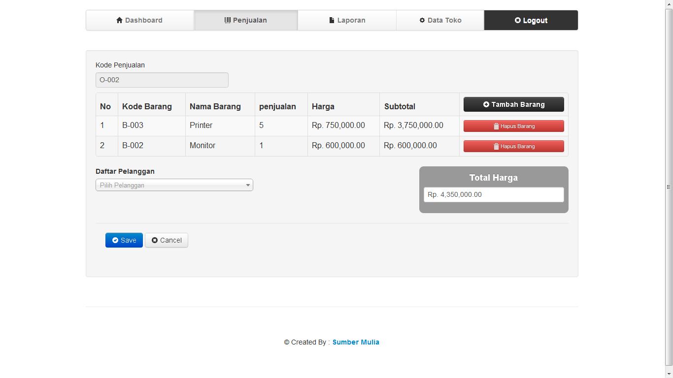 Download Source CodeAplikasi Sistem Penjualan Barang Berbasis Web Dan CodeIgniter
