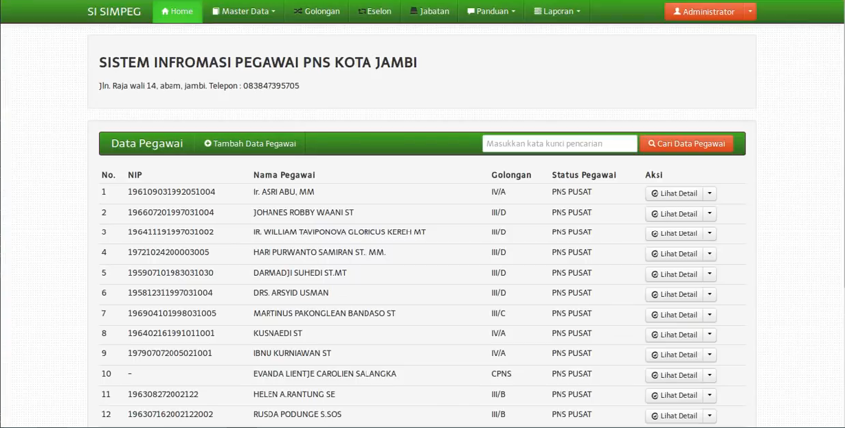 Download Source Code Sistem Informasi Pengolahan Data Pegawai Berbasis Web