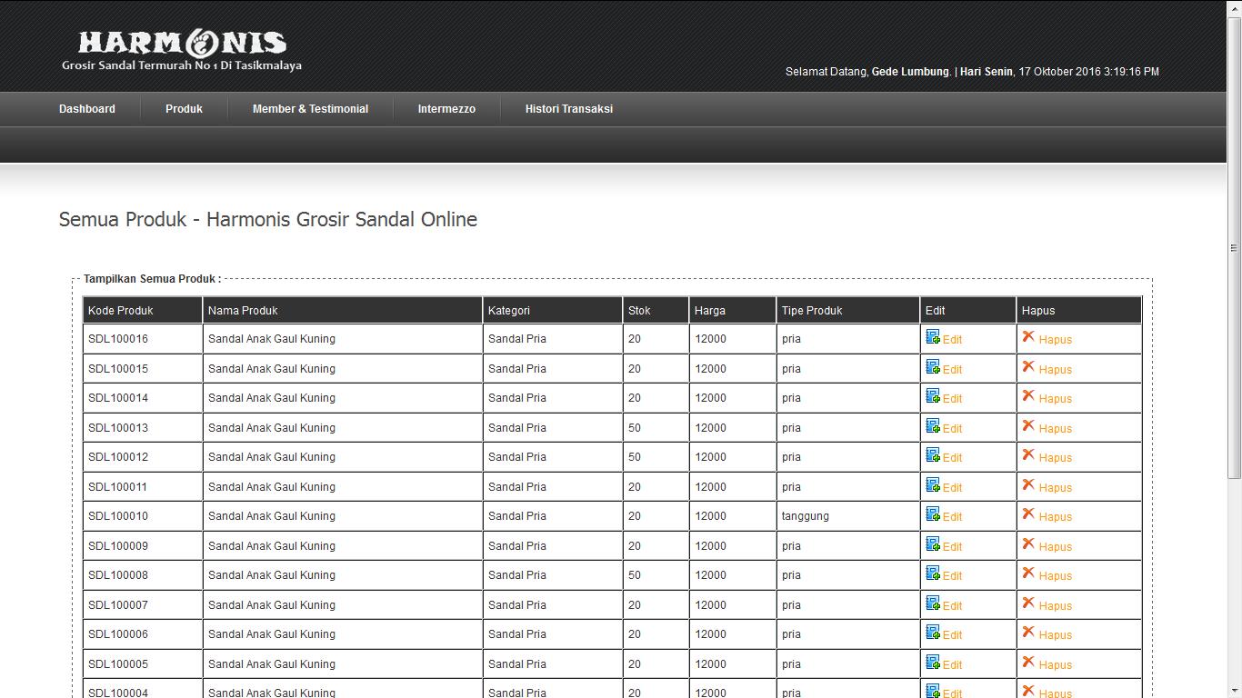 Download Source Code Aplikasi Penjualan Sendal Online Berbasis CodeIgniter