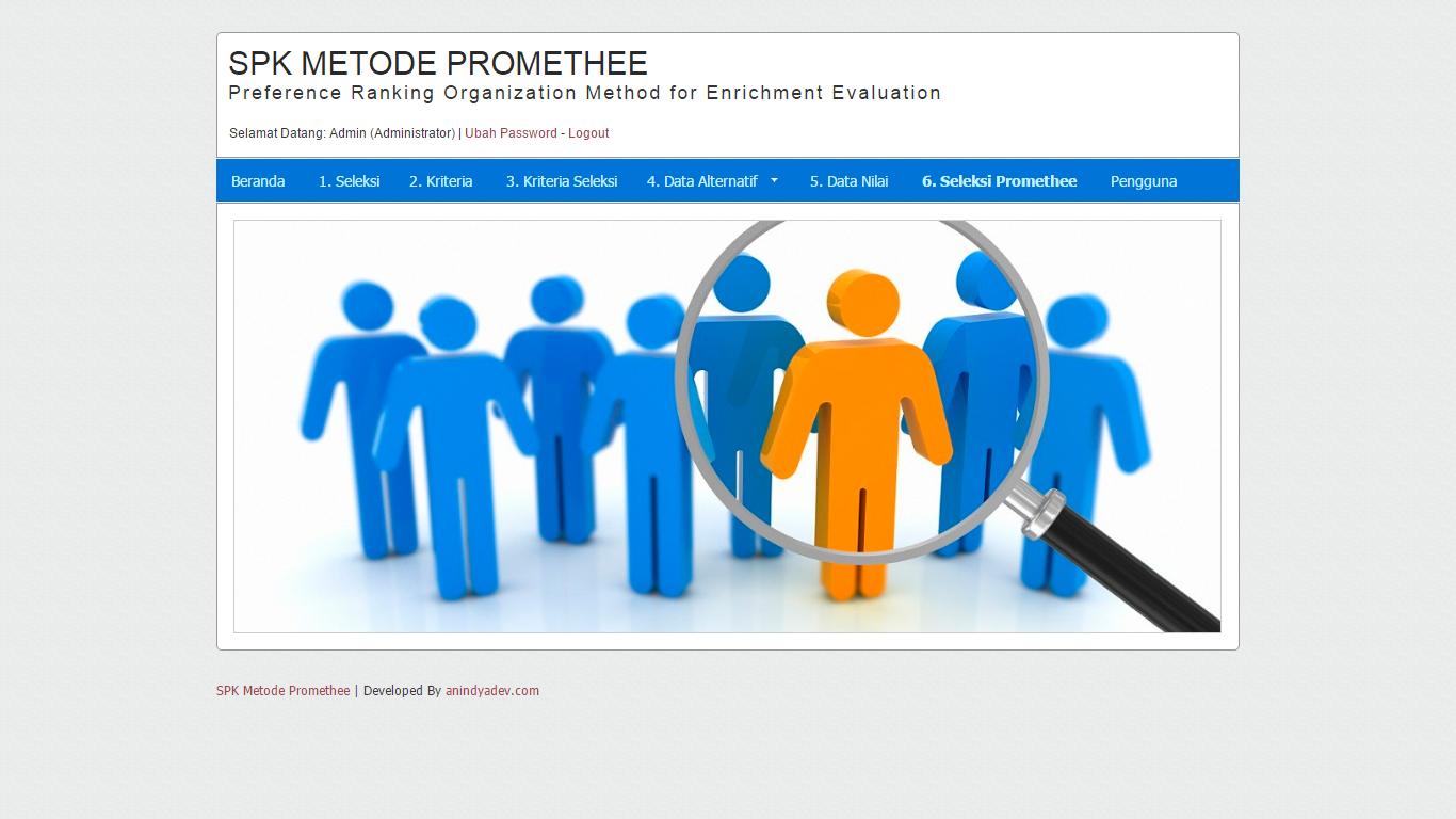 Download Source Code Aplikasi SPK Metode Promothee