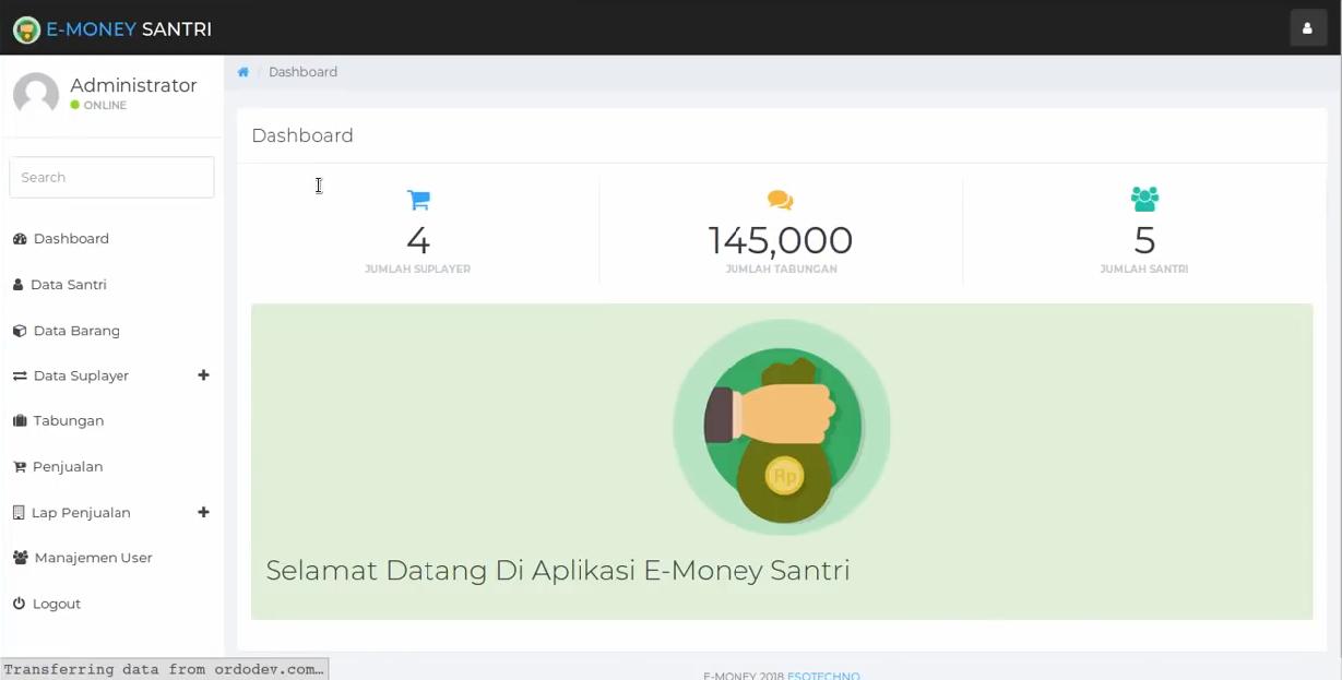Download Source Code Aplikasi Tabungan Siswa / Santri Berbasis Web