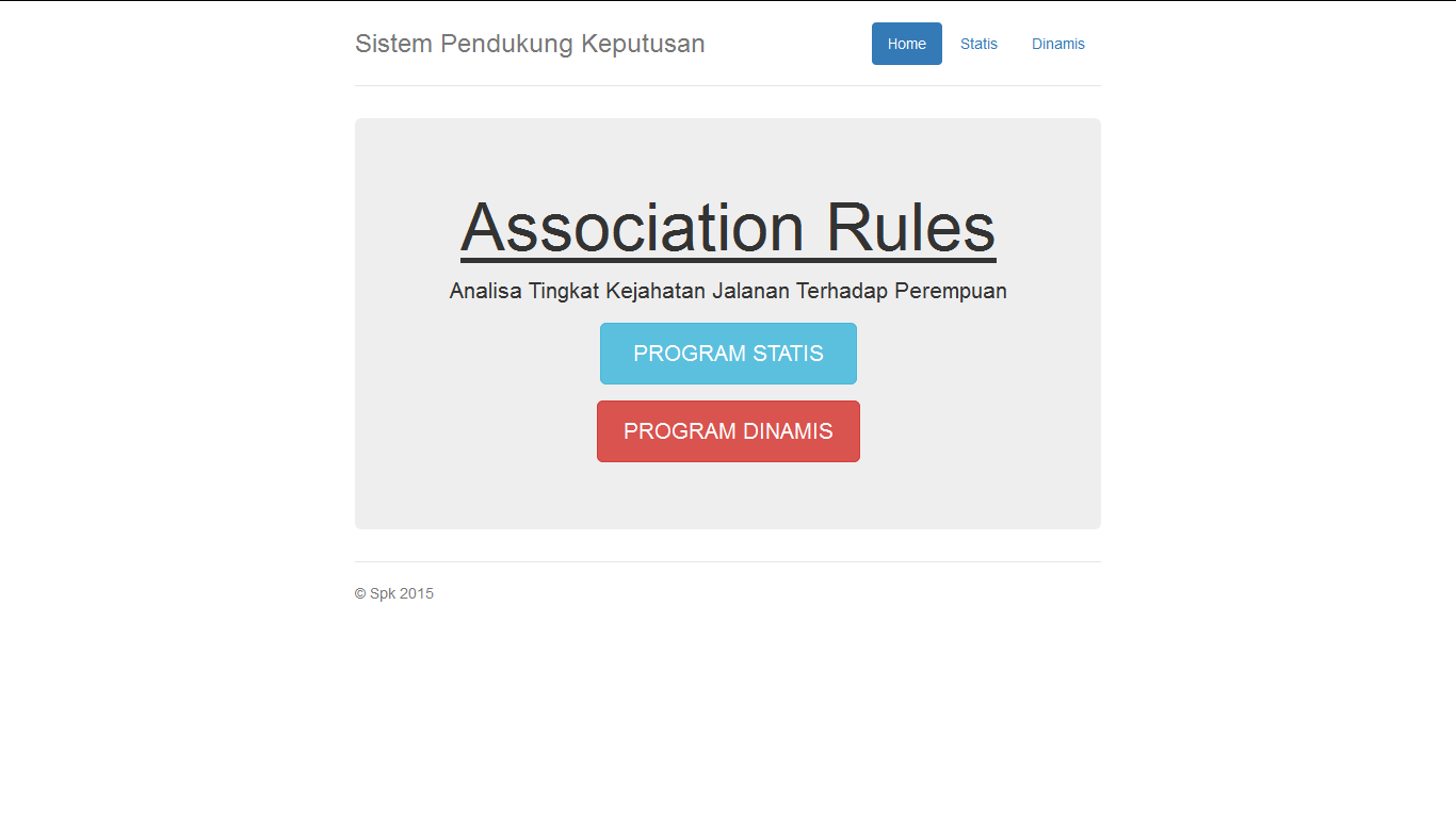 Download Source Code Aplikasi Sistem Pendukung Keputusan Metode Assocation Rules
