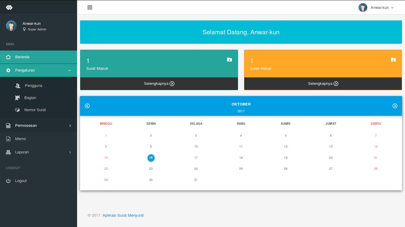 Download Source Code Aplikasi Surat Masuk Dan Surat Keluar Berbasis Web