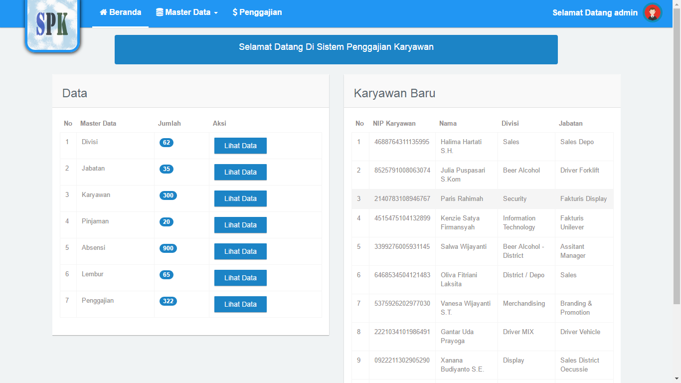 Download Source Code Aplikasi Sistem Penggajian Berbasis Web