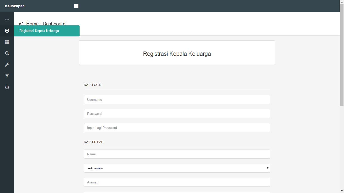 Download Source Code Aplikasi Sistem Informasi  Pendataan Umat Berbasis Web