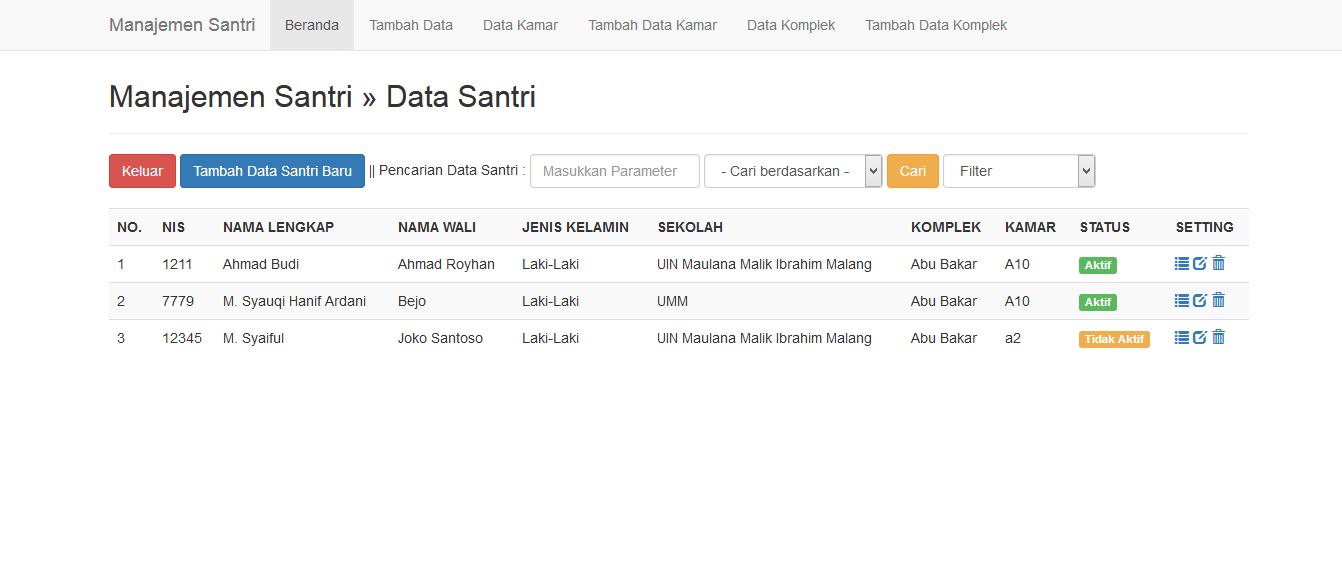 Download Source Code Sistem Informasi Manajemen Santri