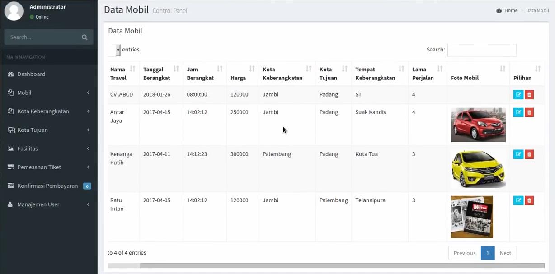 Download Source Code Aplikasi Pemesanan Tiket Bus Online Berbasis Php Dan MySql