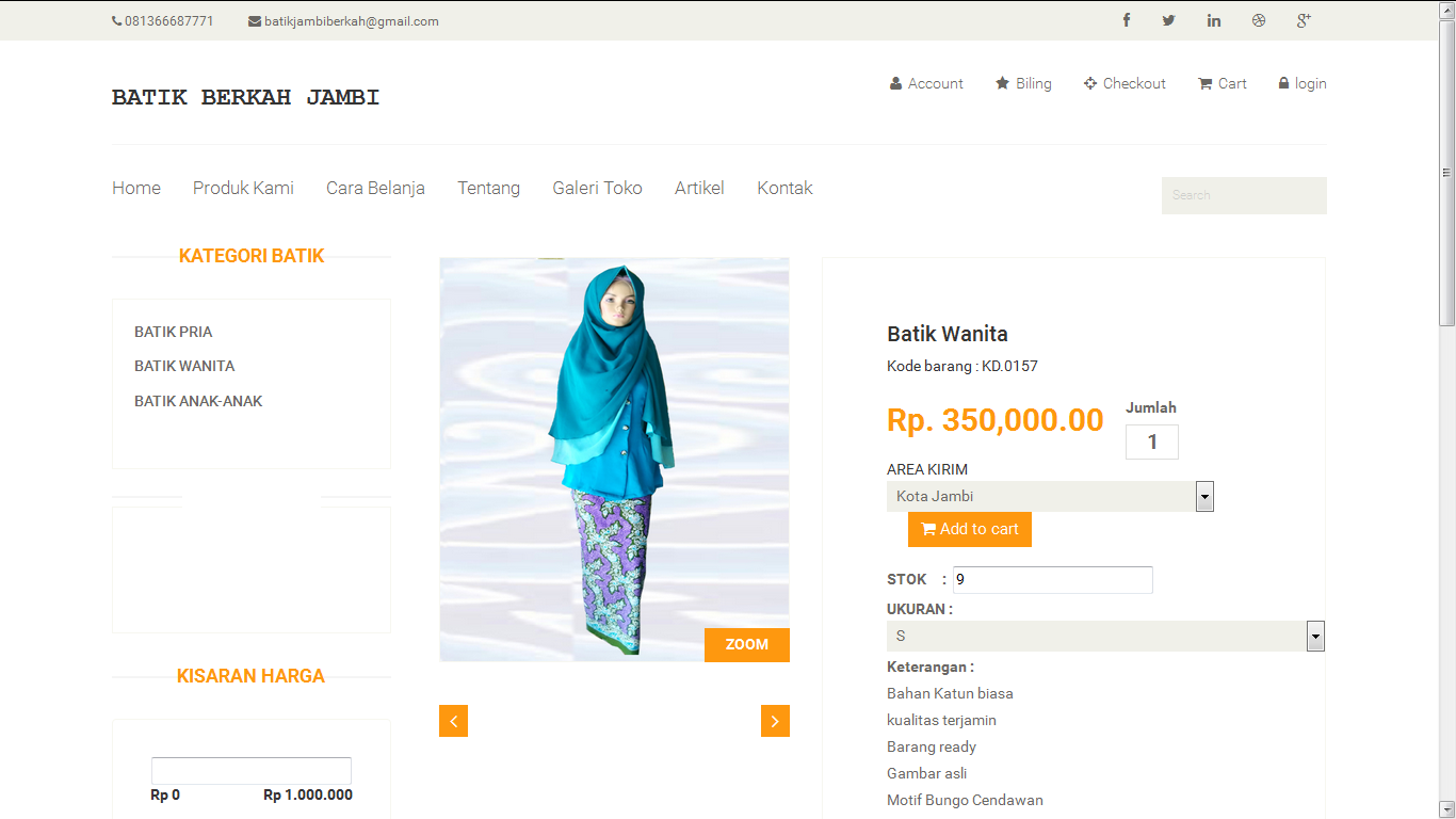 Download Source Code Web E-Commerce Toko Batik Dengan CodeIgniter 3.0