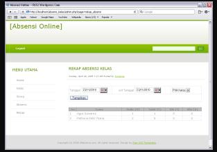 Download Source Code Sistem Informasi Absensi Online PHP & MYSQL