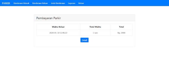 Aplikasi Sistem Parkir dengan PHP dan MySQLi