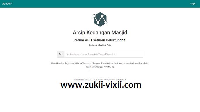 Download Source Code Aplikasi Arsip Keuangan Masjid Berbasis Codeigniter