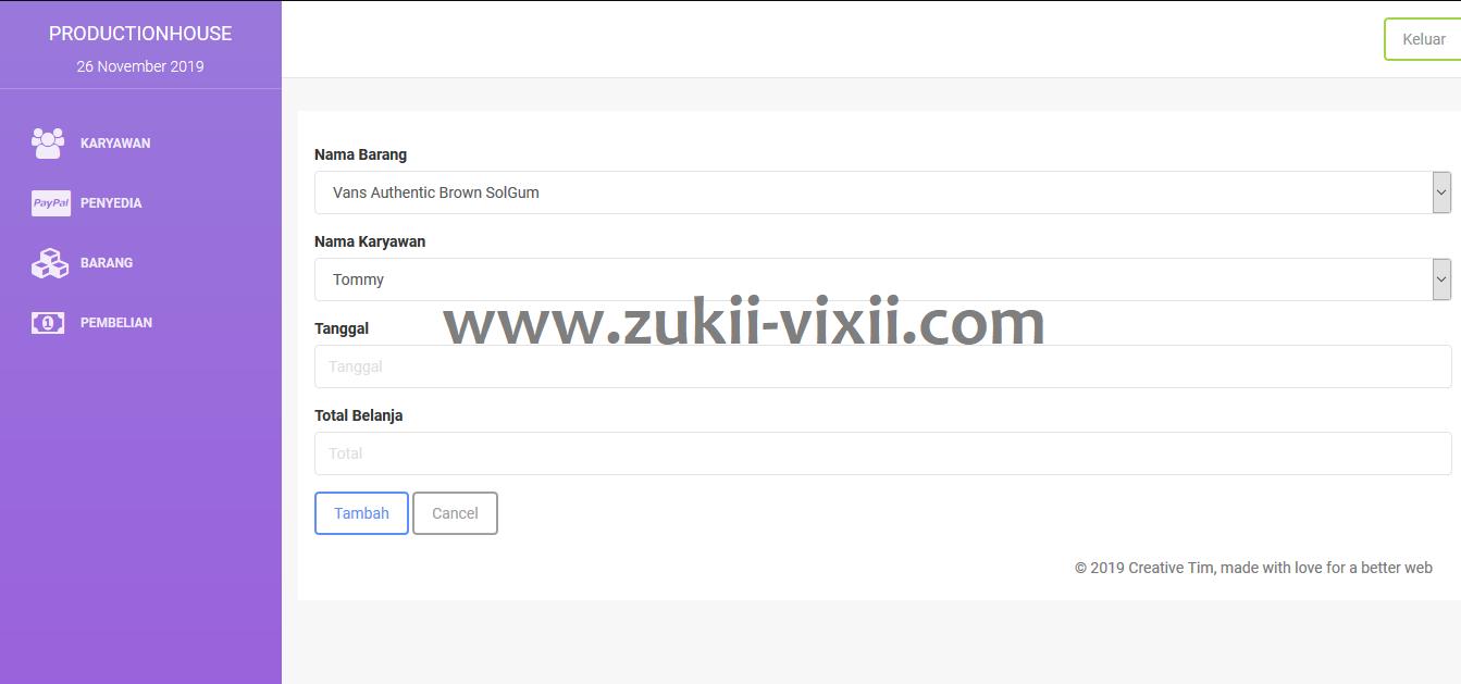 Download Source Code Aplikasi Karyawan Penjualan Berbasis Codeigniter