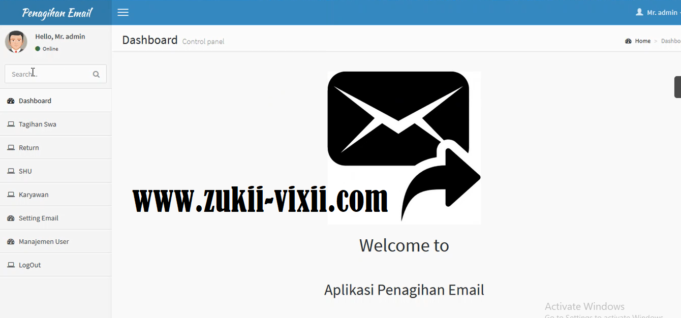 Download Source Code Aplikasi Penagihan Email Berbasis Codeigniter