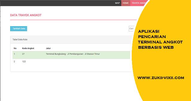 Download Source Code Aplikasi Pencarian Terminal Angkot Berbasis Web