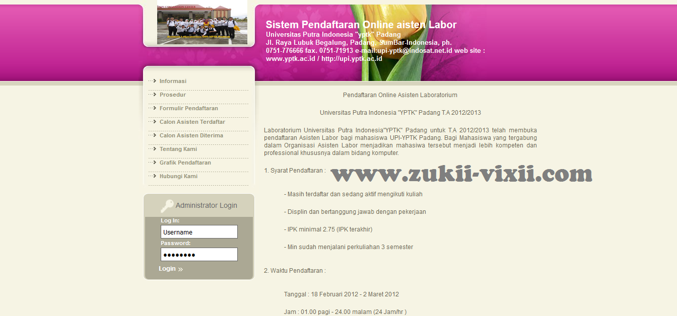 Download Source Code Sistem Pendaftaran Online Asisten Labor Universitas