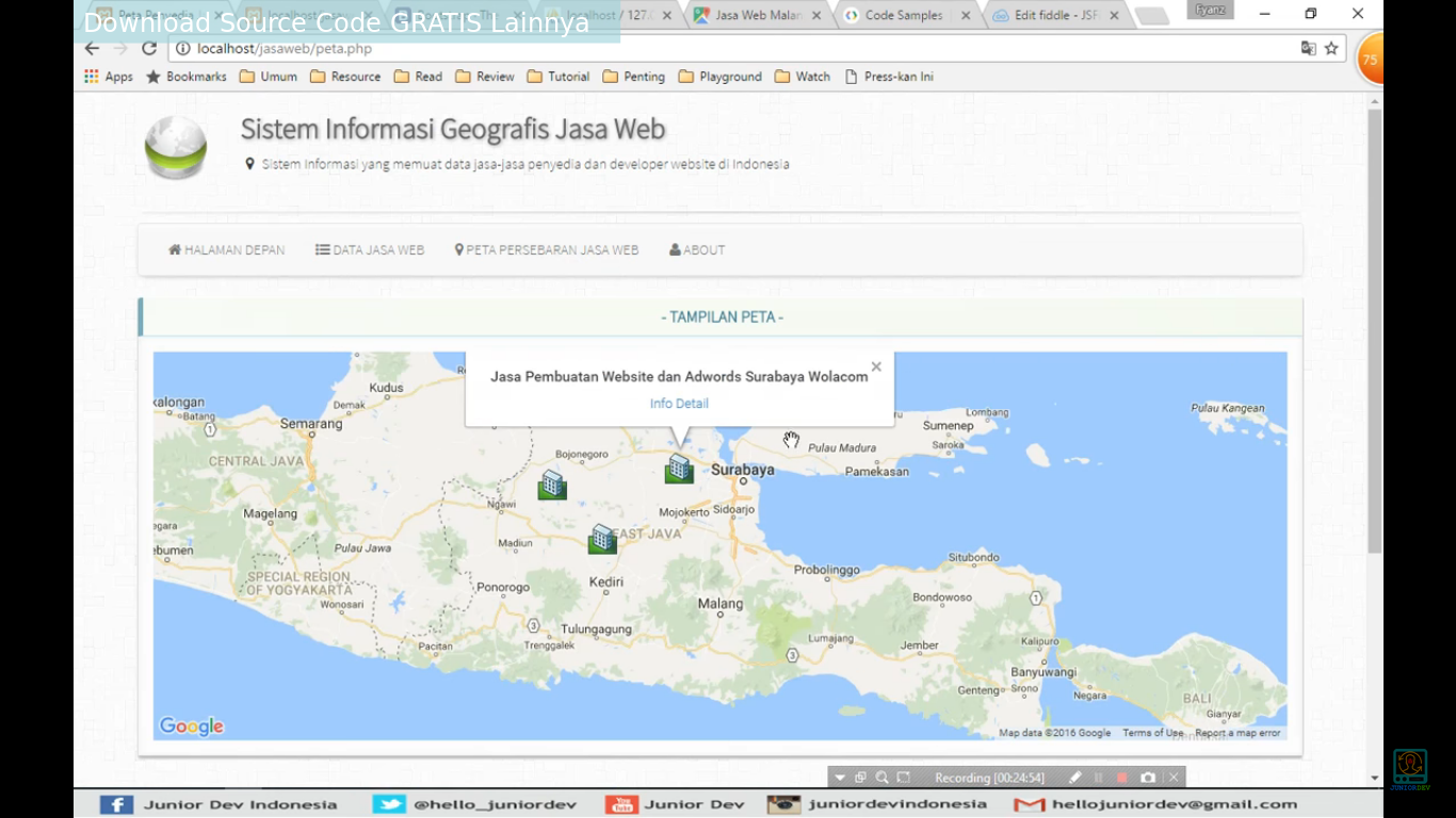 Download Source Code Aplikasi Sistem Informasi Geografis Berbasis Web